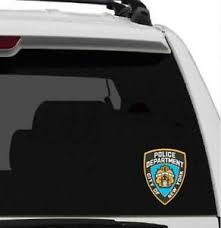 Nypd Window Decal New York Police Department Bumper Sticker New York Lisenced Ebay