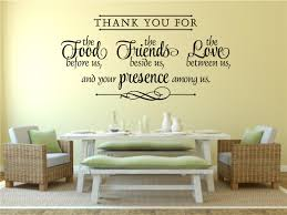 Thank You For Food Friends Love Religious Decor Vinyl Decal Wall Stickers Letters Words