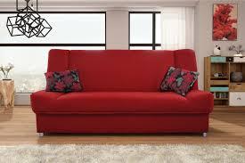 natalia red sofa sleeper by skyler designs