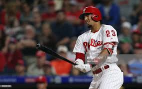 Aaron Altherr of the Philadelphia Phillies in action during a game ...
