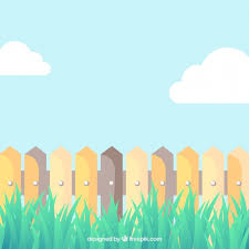 Free Vector Cartoon Picket Fence
