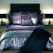 winsome purple and gray comforter queen