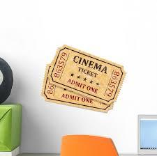 Cinema Movie Theatre Tickets Wall Decal Wallmonkeys Com