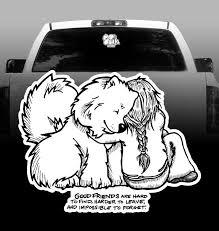 Good Friends Samoyed Mom Vinyl Decal Car Vehicle Sticker Rockin Da Dogs