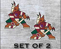Coyotes Decal Etsy