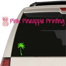 Palm Tree Silhouette Decal Sticker Car Window Laptop Beverage Etsy