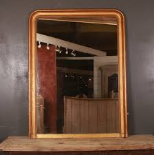 antique french overmantle mirror for