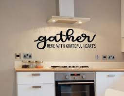 Grateful Heart Quotes Vinyl Wall Decal Sticker Gather Here Wall Words