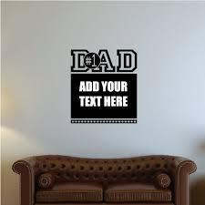 1 Dad Custom Text Wall Decal Vinyl Decal Car Decal Vd010 36 Inches Walmart Com Walmart Com
