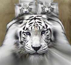 3d white tiger bedding sets duvet cover