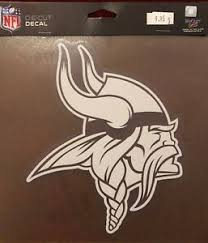 Minnesota Vikings 8 X 8 Perfect Cut Decal White Window Decal Ebay