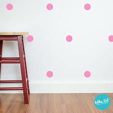 Pink Polka Dot Wall Decals Polka Dot Wall Stickers
