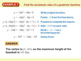 complete the square to find vertex form