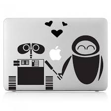 Wall E And Eve Love Laptop Macbook Vinyl Decal Sticker