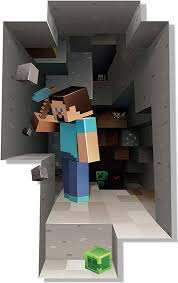 Amazon Com Jinx Minecraft Digging Removeable Wall Cling Decal Sticker For Kids Room Home Kitchen