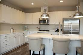 modern kitchen white marble counter