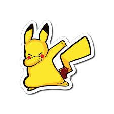 Pikachu Dabbing Sticker Decal Dab Funny Parody Meme Car Laptop Ebay