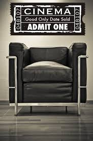 Movie Ticket Wall Decal Cinema Wall Decal Theater Wall Etsy Wall Decals Cinema Movie Room