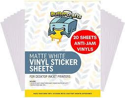 Amazon Com Printable Vinyl For Inkjet Printer Matte White Waterproof 20 Sheets Inkjet In 2020 Vinyl Sticker Paper Inkjet Printable Vinyl Vinyl Sticker Sheets