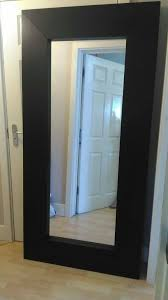 big ikea mirror brown wood in new