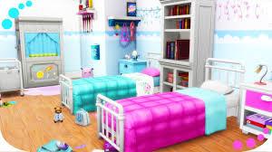 The Sims 4 Twin Girls Bedroom Parenthood Kids Room Stuff Youtube