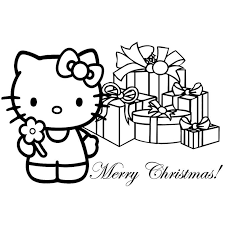 Coloriage Noel Hello Kitty Kleurplaten Hello Kitty En Kinderen
