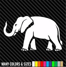 Elephant Decal Sticker Animal Decor Wall Car Truck Many Colors Ebay