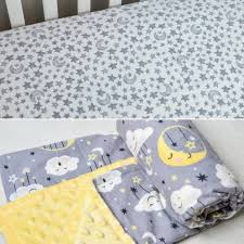 moon and stars baby bedding set