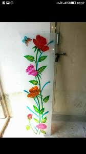 color glass design on frosted glass
