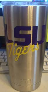 Lsu Inspired Decal For Yeti Tumbler With Or Without Personalization Lsu Yeti Tumbler Personalized Yeti Tumblers