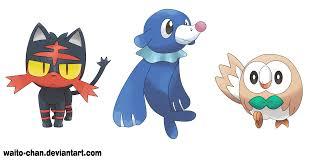 Pokemon Sun and Moon Starters by WaitoChan on DeviantArt