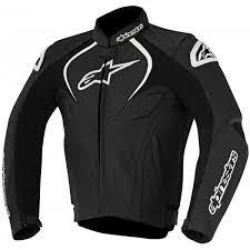alpinestars jaws leather black jacket