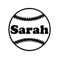 Softball With Personalized Name Vinyl Decal Sticker Etsy