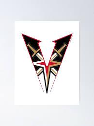 Vegas Golden Knights Sword Star V Logo Poster By Peachpieart Redbubble