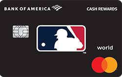 mlb credit cards from bank of america