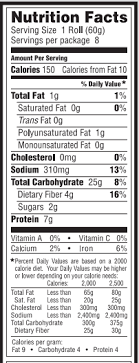 whole grain white bread nutrition facts
