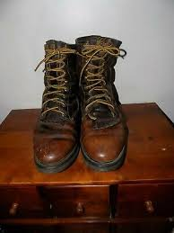 brown leather work boots size 10 ee