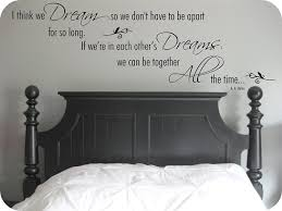 Amazon Com Love Dreams Quote Aa Milne Winnie The Pooh Bear I Think We Dream Vinyl Wall Art Sticker Mural Decal Home Wall Decor Love Quote Bedroom Handmade