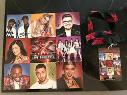 x factor live tour vip signed programme