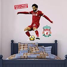 Amazon Com Official Liverpool Fc Mo Salah Shooting Player Decal Lfc Wall Sticker Set Print Mural Vinyl Decal 175cm Height Baby
