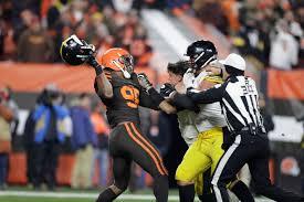 Myles Garrett suspended for rest of season by NFL for helmet incident – The  Denver Post