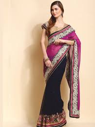 party wear purple saree diya diya