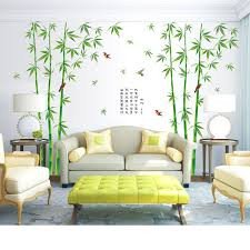 Fresh Green Garden Plant Chinese Style Bamboo Wall Decals Adhesive Home Art Decoration Mural Decal Living Room Bedroom Decor Buy At The Price Of 7 97 In Aliexpress Com Imall Com