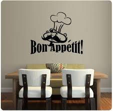 Amazon Com Chef French Bon Appetit Wall Decal Sticker Art Kitchen Mural Home Decor Home Kitchen