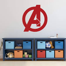 Avengers Superhero Logo Vinyl Wall Decal Decoration For Boys Bedroom Customvinyldecor Com