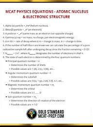 mcat physics equations atomic nucleus