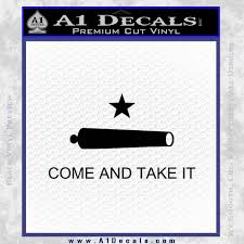 Texas Flag Come And Take It Decal Sticker A1 Decals