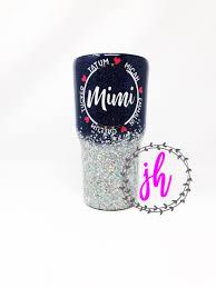 Mimi Granny Grandma Grandkids Two Colored Ombre Custom Tumbler Etsy Custom Tumblers Custom Tumbler Cups Glitter Tumbler Cups