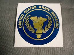 Us Army Large Decal Sticker United States Army Reserve 1970s Large Decal Army Reserve United States Army