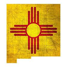 New Mexico Zia Flag Decals New Mexico Car Decals Nm Pride Etsy